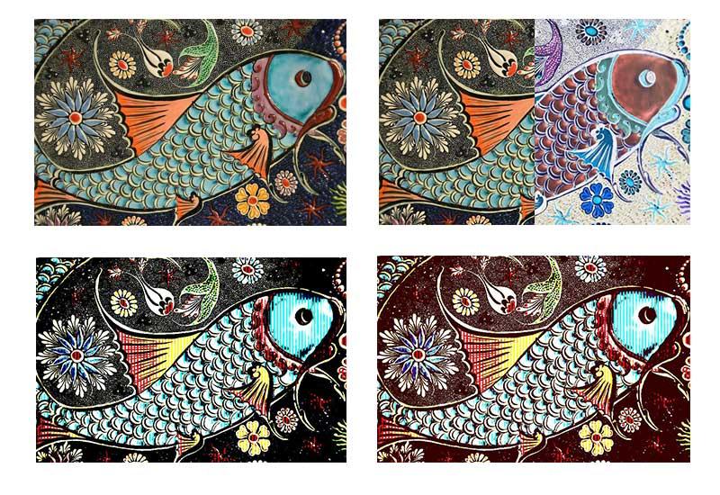 PHP GD Fish Mosaic