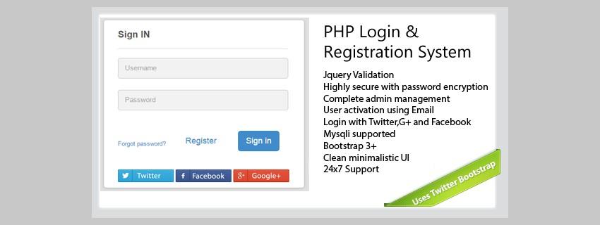 Système de connexion et d'enregistrement PHP