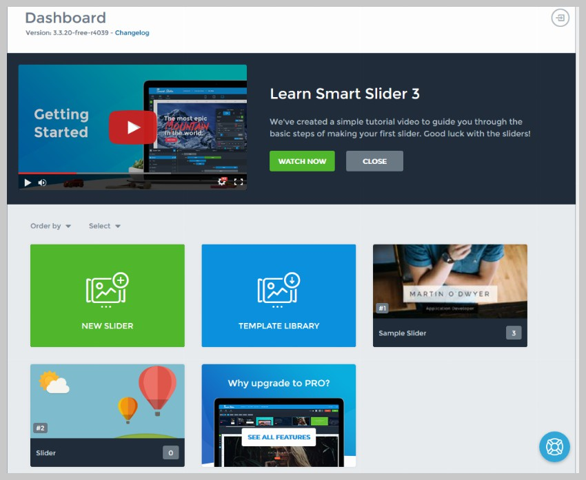 Smart Slider Welcome Screen