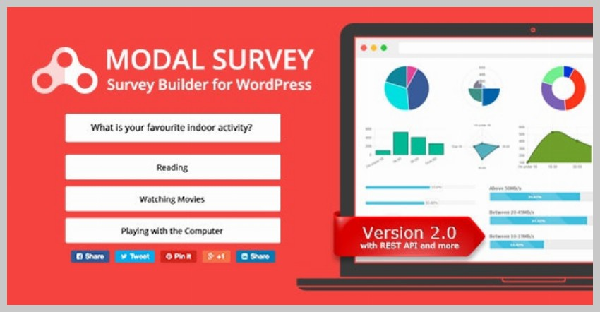 Modal Survey Quiz Plugin