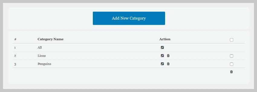 Portfolio Gallery Categories