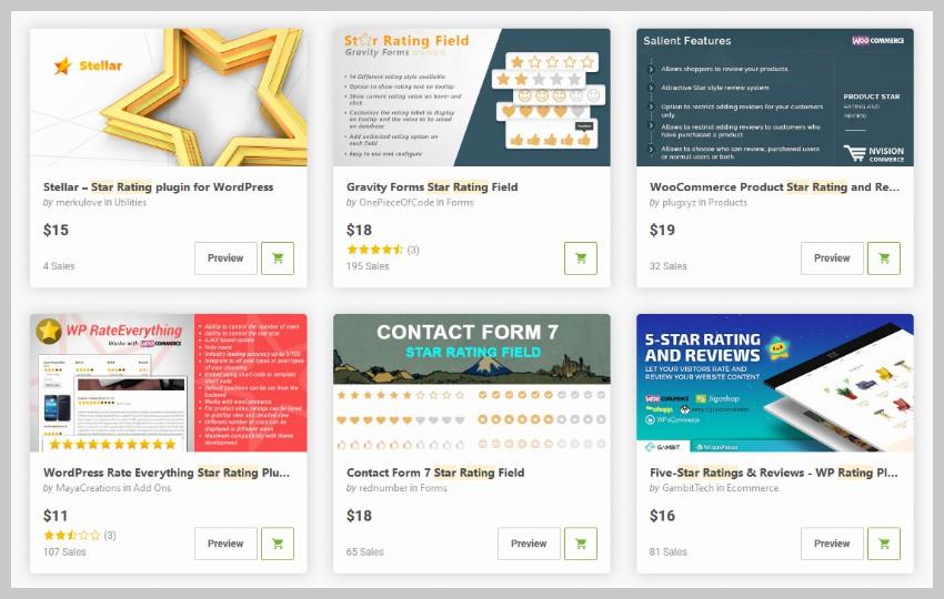 WordPress Star Rating Plugins CodeCanyon