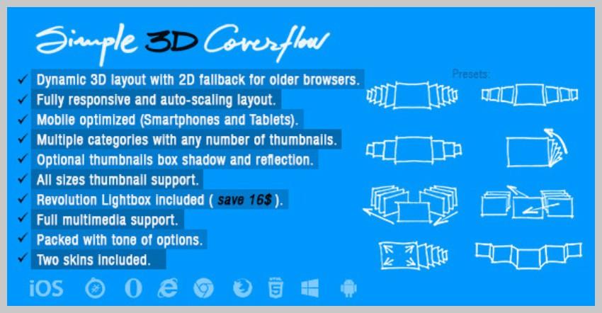 Simple 3D Coverflow
