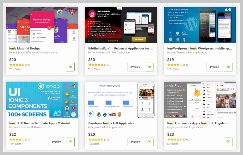Ionic Apps on CodeCanyon