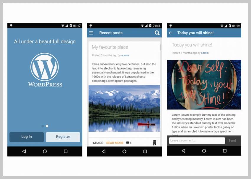 Ionic WordPress Mobile App
