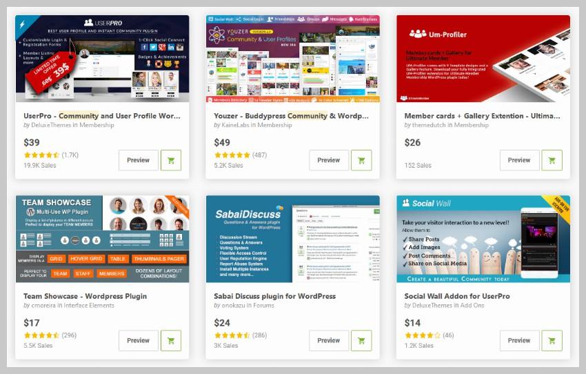 WordPress Community Plugins on CodeCanyon