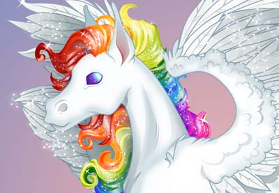 Rainbow pegasus preview