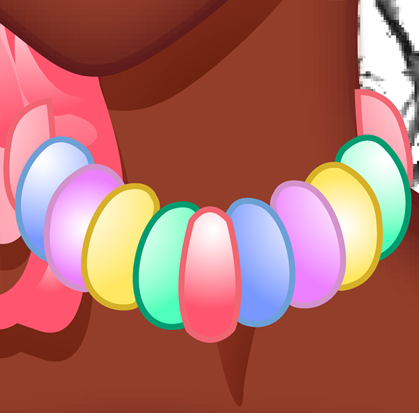 Making Candy Necklace 2