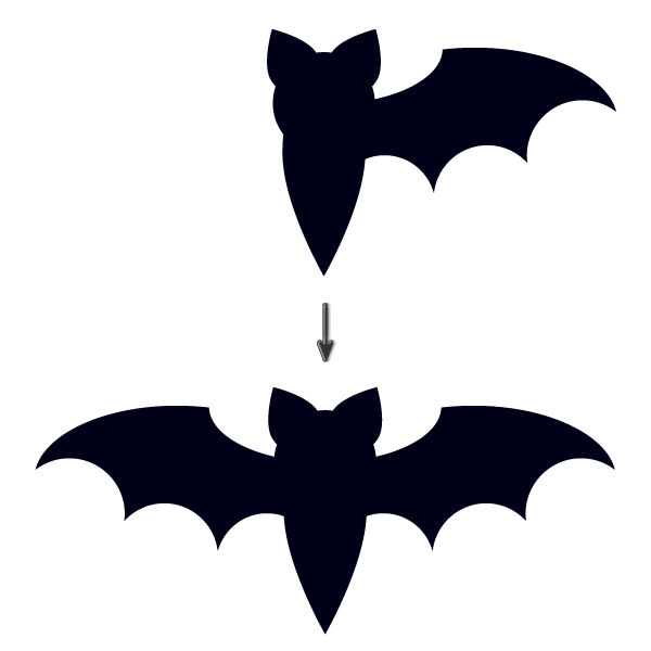How To Create A Bat Icon In Adobe Illustrator Using Just Simple