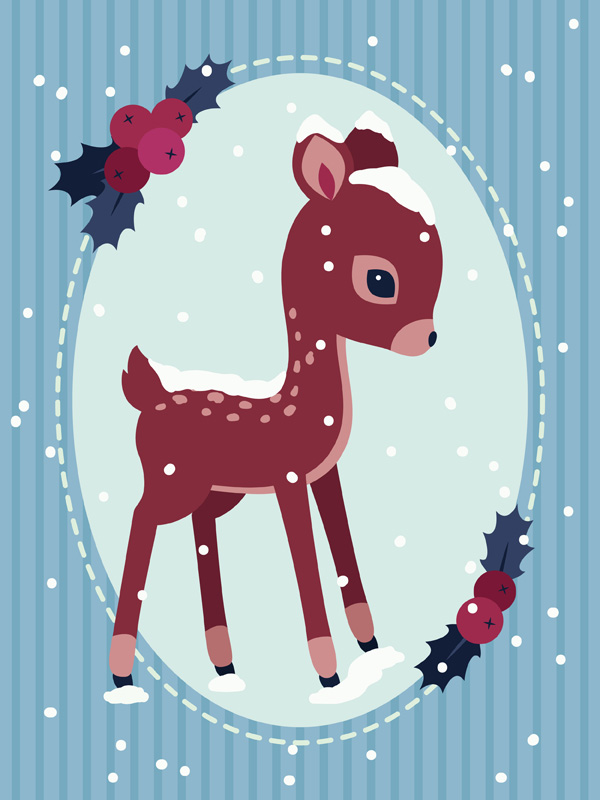 How to create a vintage seasonal greeting card in adobe illustrator final product image m4hsunfo
