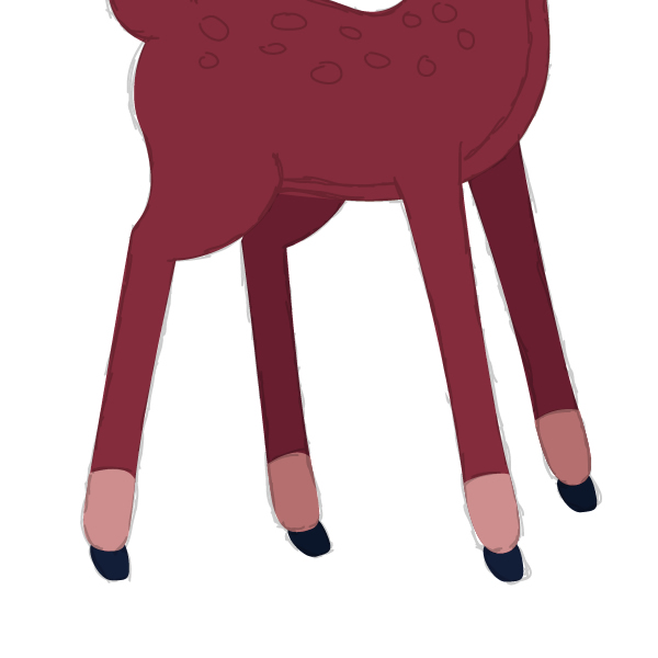 drawing the hooves