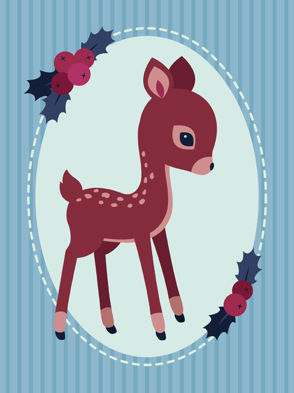 placing th fawn on the background