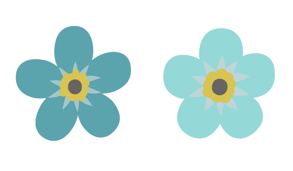 creating different flowers of forget-me-nots