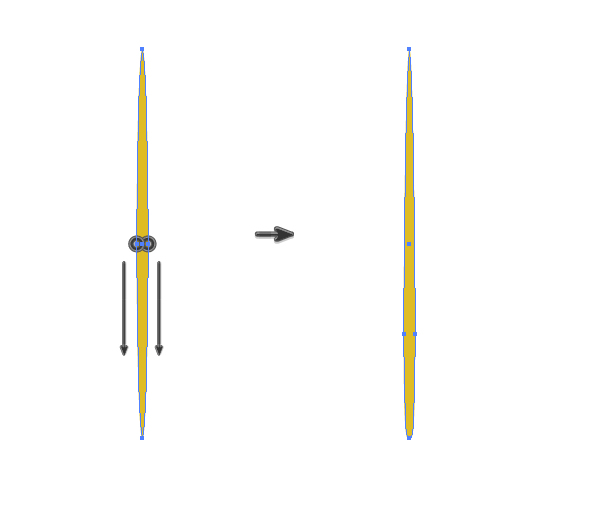 creating a stalk of the spikelet