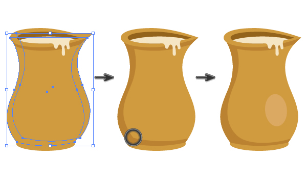 creating a shadow on the pitcher 2
