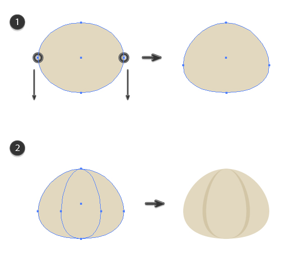 creating a base shape of the garlic