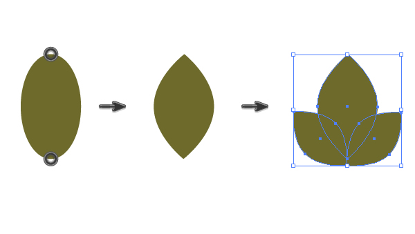 creating a leaf of the guelder