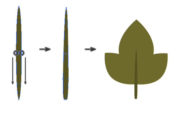 creating a petiole of the guelders leaf