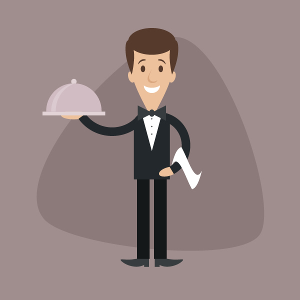 Simple Character Design Illustrator : How to create a simple cartoon waiter in adobe illustrator