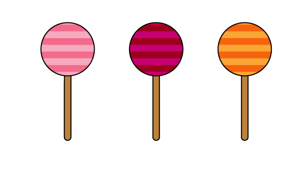 creating different colors of the lollipop