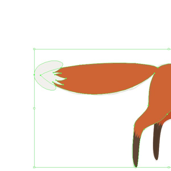 finishing the tail of the fox