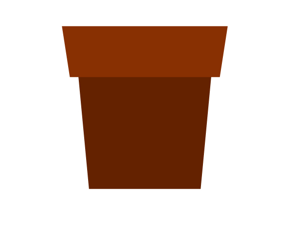 combining two rectangles into flower pot