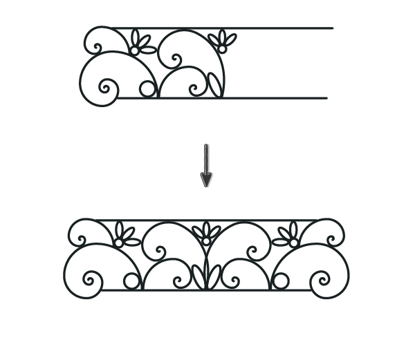 creating the security iron bar from spirals and ellipses