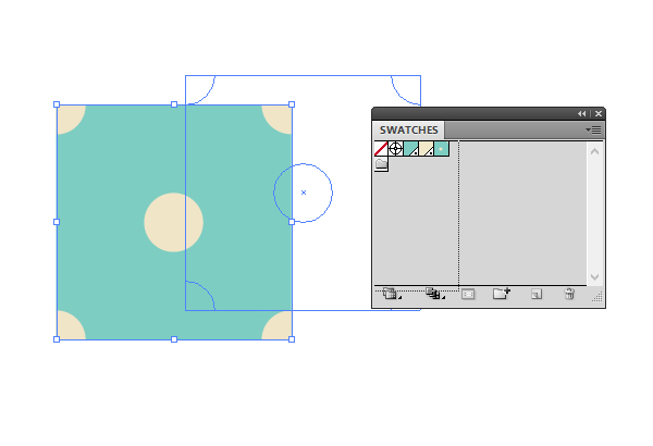 creating the pattern template draggin to the Swatches panel