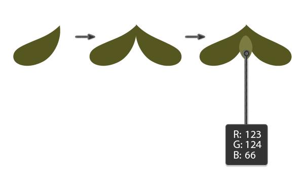 creating the mistletoe leaves