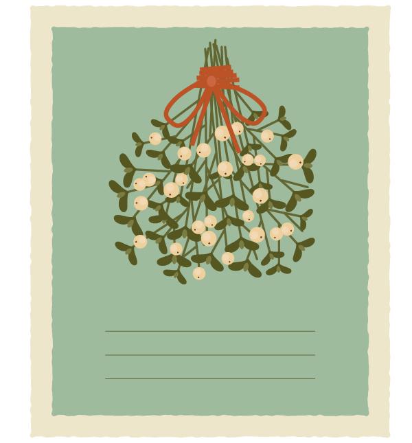 how to create a vintage card with mistletoe in adobe illustrator. Black Bedroom Furniture Sets. Home Design Ideas
