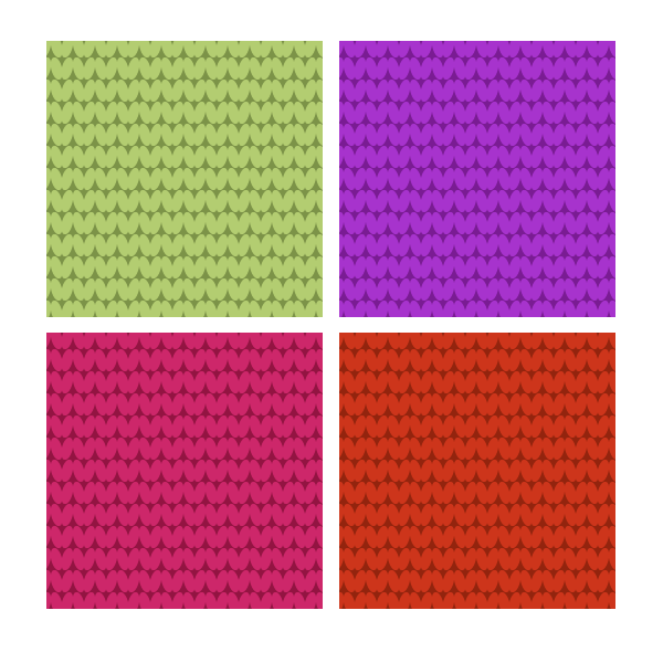 recolored knitted patterns