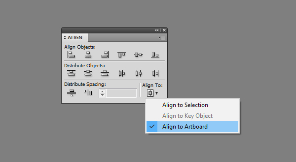 Aligning to Artboard