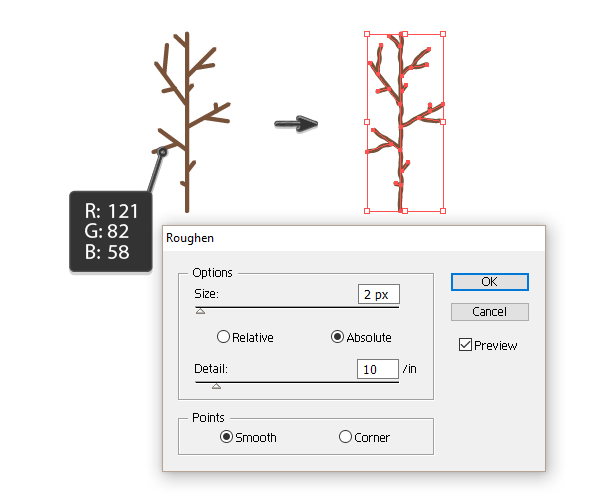 creating the brown branch