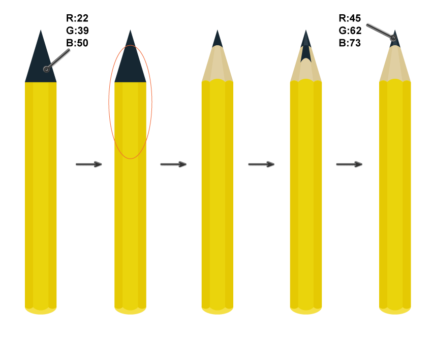 creating the pencil lead