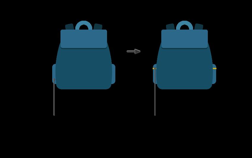 تکنامه - طراحی کیف مدرسه در ادوبی