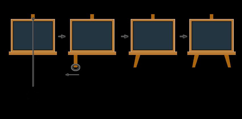 creating the blackboard legs