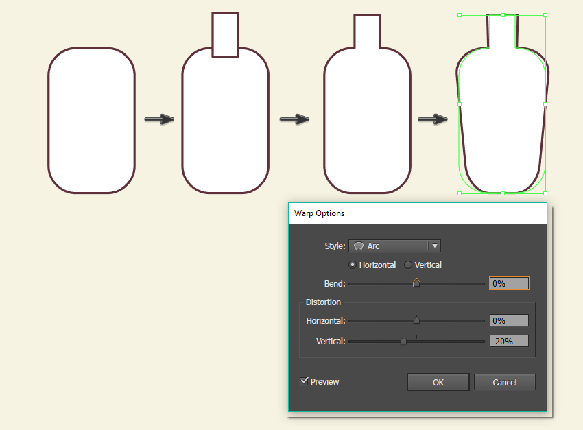 creating the second bottle