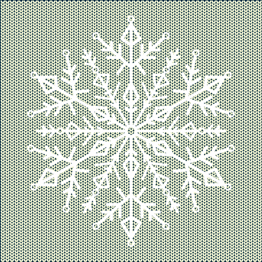 placing the snowflake