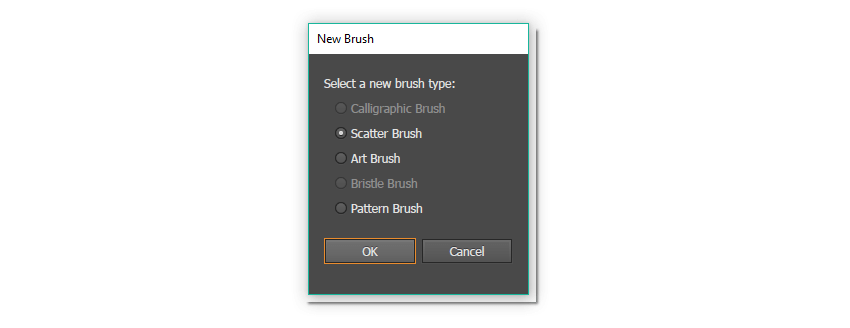 New Brush options window