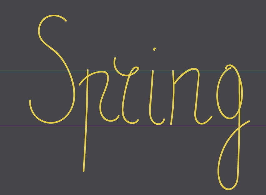 writing spring word