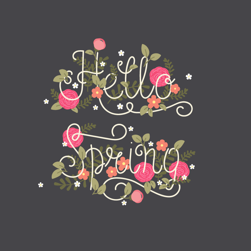 placing white flowers on lettering
