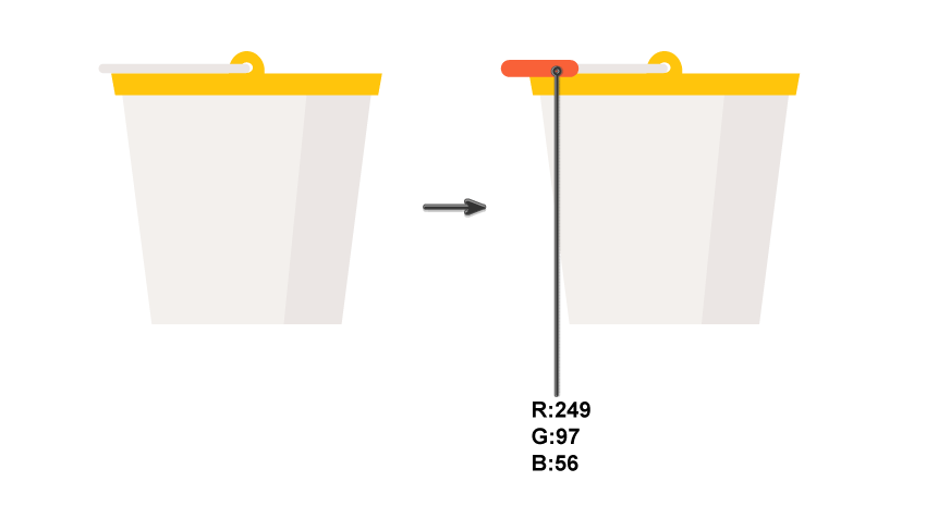 creating the handle of the bucket