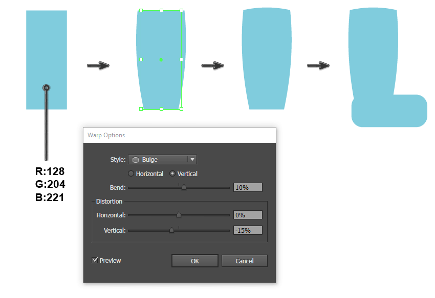 creating the rain boot shape