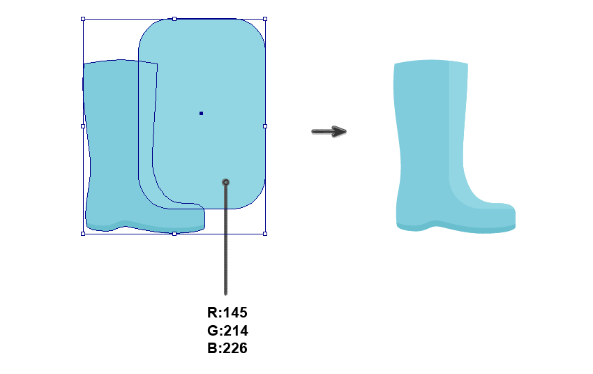 creating the rain boot shape 4
