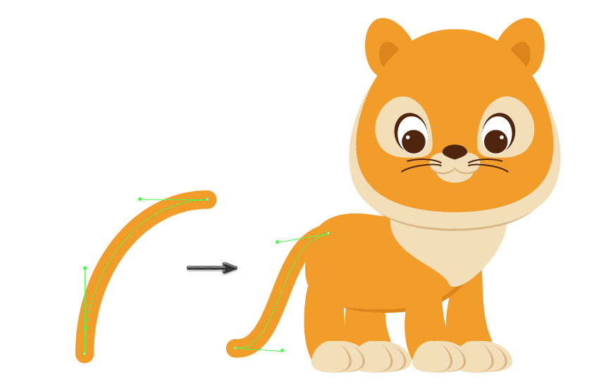 How to Create a Cute Cartoon Tiger Illustration in Adobe Illustrator
