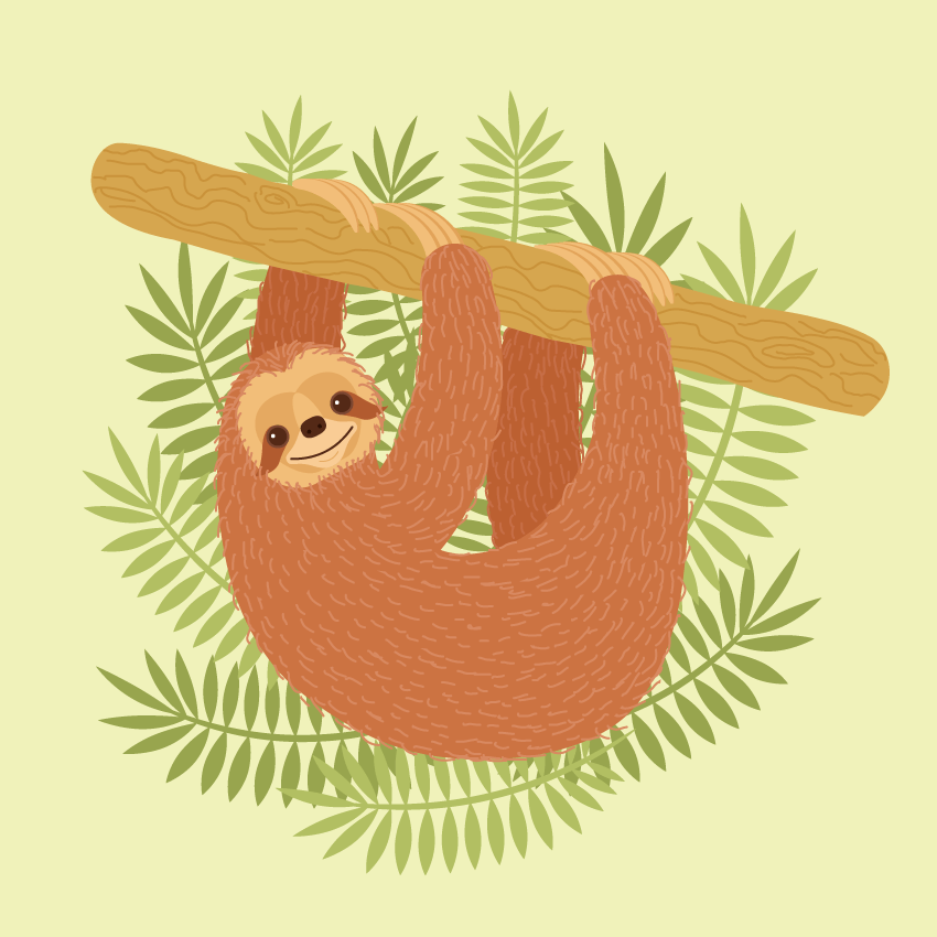 How to Create a Sloth Illustration in Adobe Illustrator ...