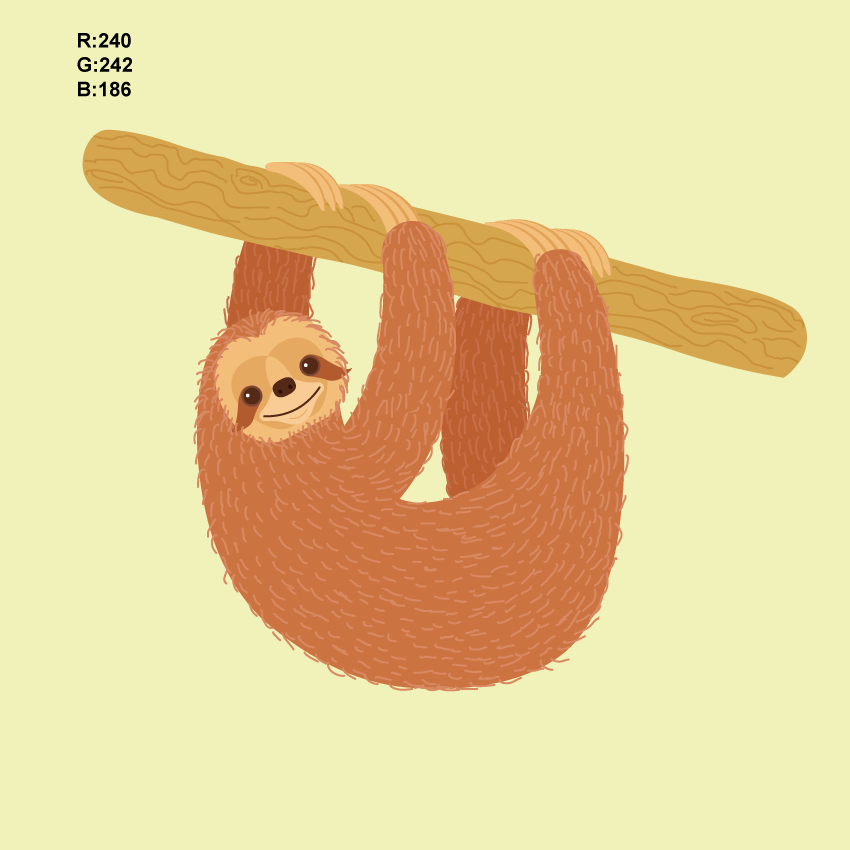 How to Create a Sloth Illustration in Adobe Illustrator