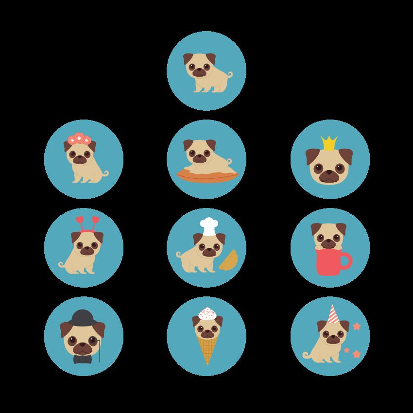 How to Create 10 Mini Pug Illustrations in Adobe Illustrator