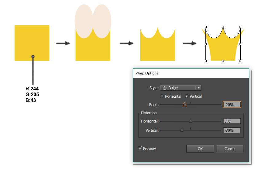 creating the crown