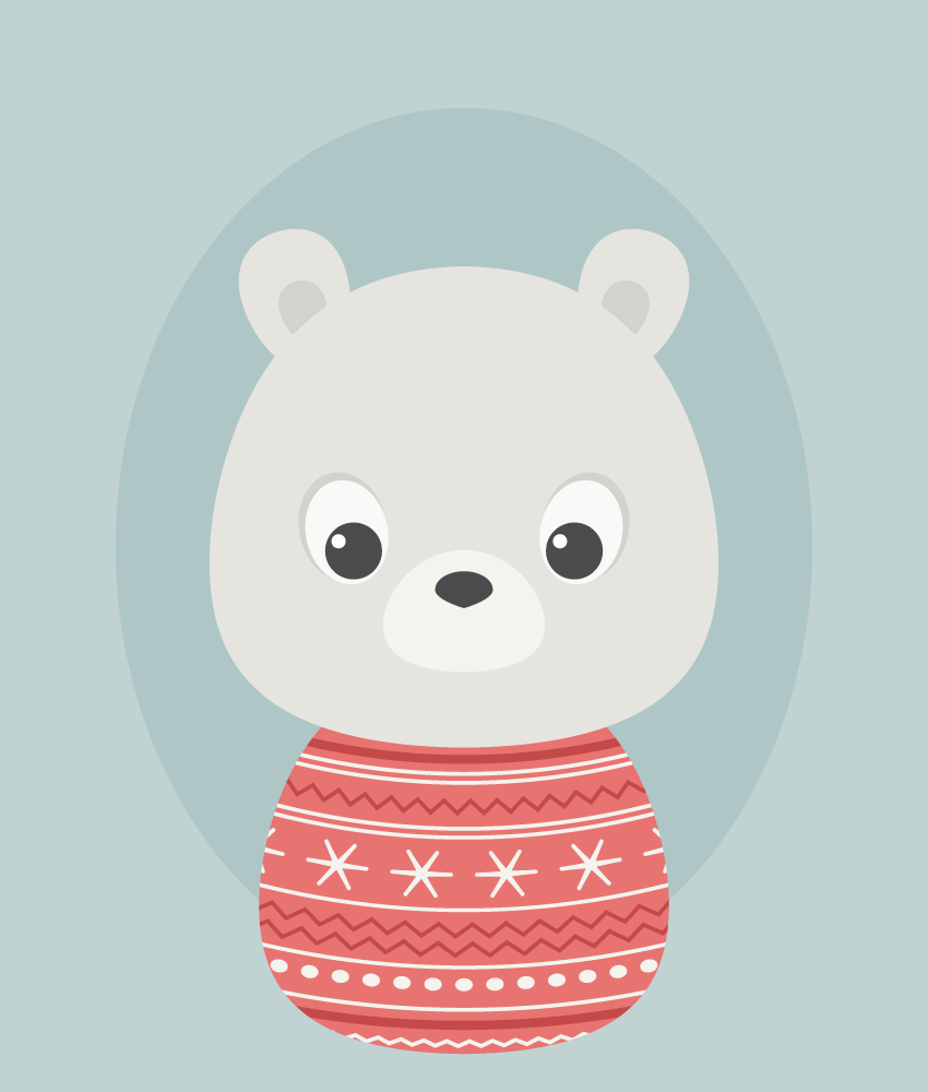 placing the bear on the background